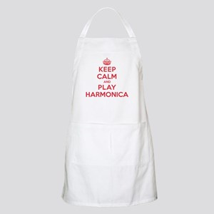 Keep Calm Play Harmonica Apron