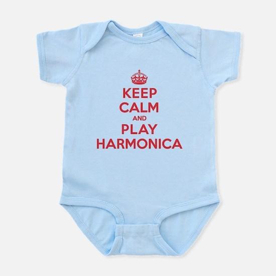 Keep Calm Play Harmonica Infant Bodysuit