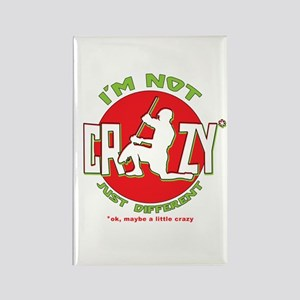 Im Not Crazy (lacrosse) Rectangle Magnet