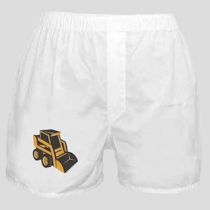 skid steer digger truck Boxer Shorts