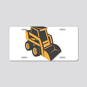 skid steer digger truck Aluminum License Plate