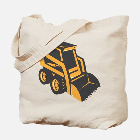 skid steer digger truck Tote Bag