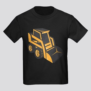 skid steer digger truck Kids Dark T-Shirt
