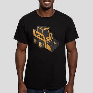 skid steer digger truck Men's Fitted T-Shirt (dark