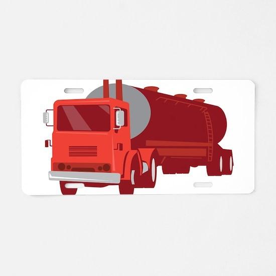 Tanker Cement Truck Retro Aluminum License Plate