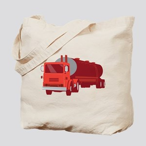 Tanker Cement Truck Retro Tote Bag