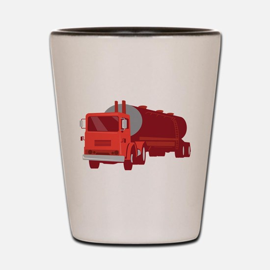 Tanker Cement Truck Retro Shot Glass