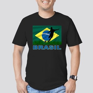 Brasil World Cup Soccer Men's Fitted T-Shirt (dark