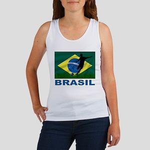 Brasil World Cup Soccer Women's Tank Top