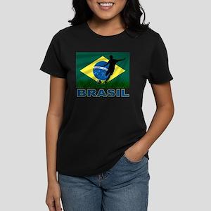 Brasil World Cup Soccer Women's Dark T-Shirt