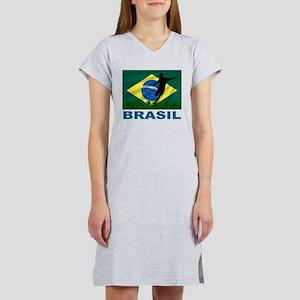 Brasil World Cup Soccer Women's Nightshirt