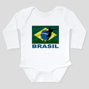 Brasil World Cup Soccer Long Sleeve Infant Bodysui