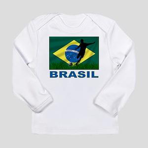 Brasil World Cup Soccer Long Sleeve Infant T-Shirt