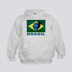 Brasil World Cup Soccer Kids Hoodie