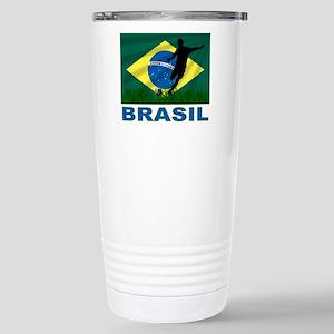 Brasil World Cup Soccer Stainless Steel Travel Mug