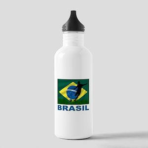 Brasil World Cup Soccer Stainless Water Bottle 1.0