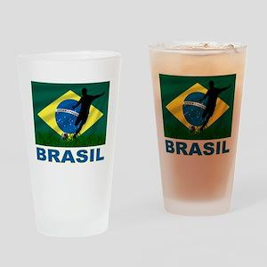 Brasil World Cup Soccer Drinking Glass