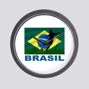 Brasil World Cup Soccer Wall Clock