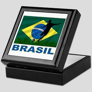 Brasil World Cup Soccer Keepsake Box