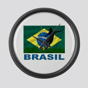 Brasil World Cup Soccer Large Wall Clock