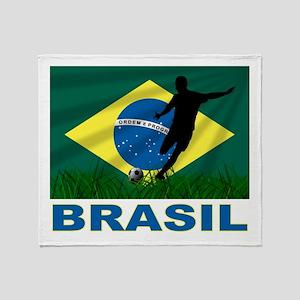 Brasil World Cup Soccer Throw Blanket