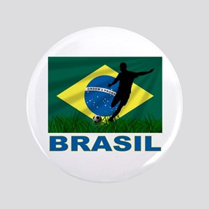 "Brasil World Cup Soccer 3.5"" Button"