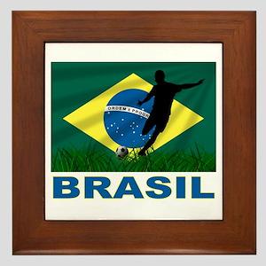 Brasil World Cup Soccer Framed Tile