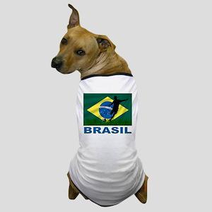 Brasil World Cup Soccer Dog T-Shirt