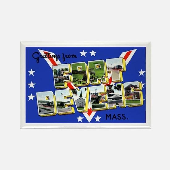Fort Devens Massachusetts Rectangle Magnet