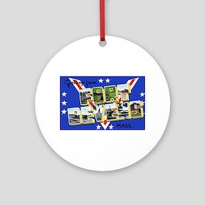 Fort Devens Massachusetts Ornament (Round)