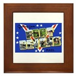 Fort Devens Massachusetts Framed Tile