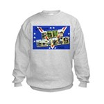 Fort Devens Massachusetts (Front) Kids Sweatshirt
