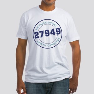 Southern Shores Zip Code Fitted T-Shirt
