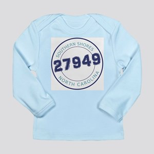 Southern Shores Zip Code Long Sleeve Infant T-Shir