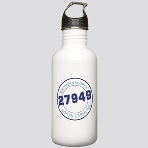 Southern Shores Zip Code Stainless Water Bottle 1.