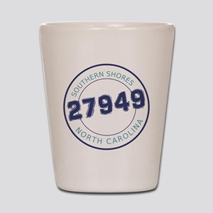 Southern Shores Zip Code Shot Glass