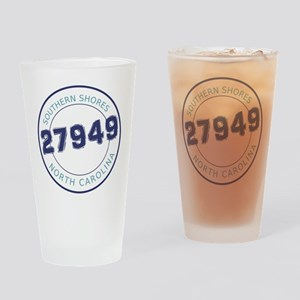 Southern Shores Zip Code Drinking Glass