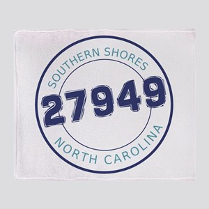 Southern Shores Zip Code Throw Blanket