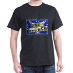 Fort Devens Massachusetts (Front) Black T-Shirt