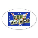 Fort Devens Massachusetts Oval Sticker