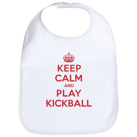 Keep Calm Play Kickball Bib