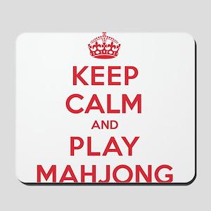 Keep Calm Play Mahjong Mousepad