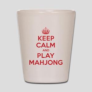 Keep Calm Play Mahjong Shot Glass