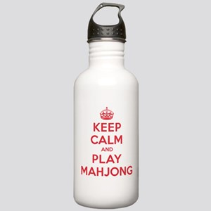 Keep Calm Play Mahjong Stainless Water Bottle 1.0L
