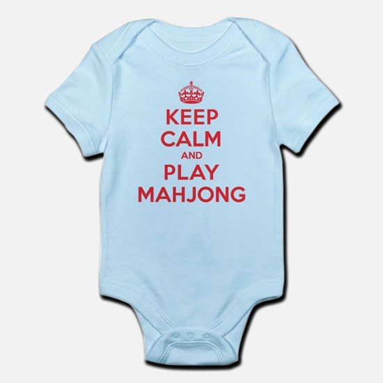 Keep Calm Play Mahjong Infant Bodysuit