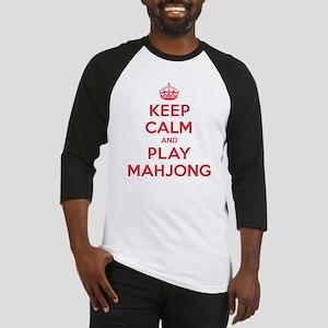 Keep Calm Play Mahjong Baseball Jersey