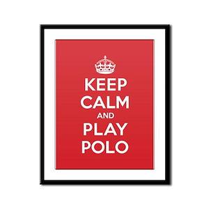 Keep Calm Play Polo Framed Panel Print