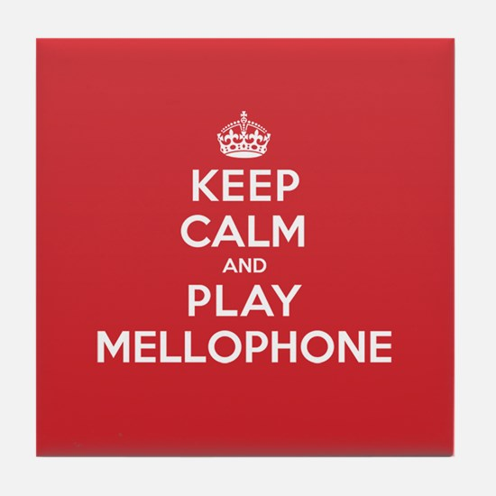 Keep Calm Play Mellophone Tile Coaster