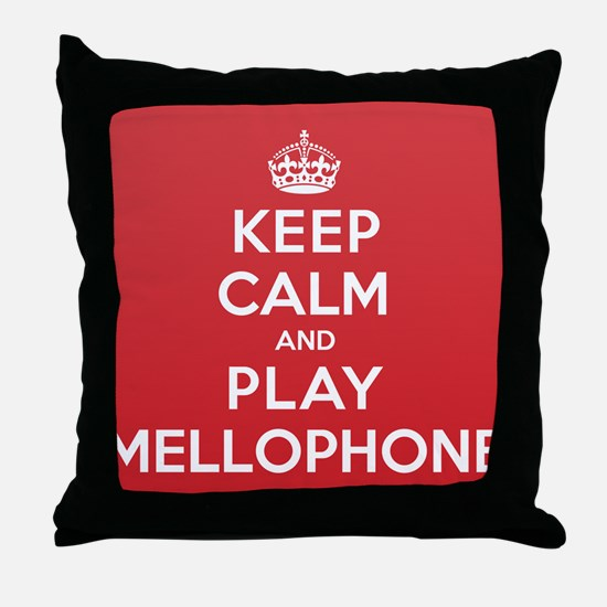 Keep Calm Play Mellophone Throw Pillow
