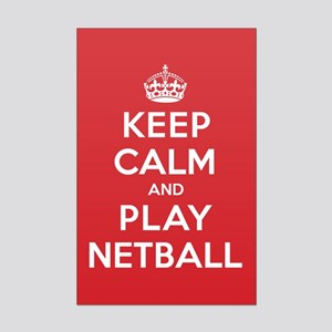 Keep Calm Play Netball Mini Poster Print